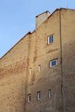 Dom z starym tynkiem i okno Zdjęcia Stock