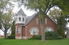 Dom z wieżyczki architekturą Fotografia Royalty Free