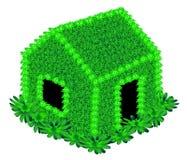 Dom z zielonymi kwiatami Zdjęcie Royalty Free
