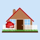 Dom z znaka domem dla sprzedaży - sprzedającej Obrazy Royalty Free