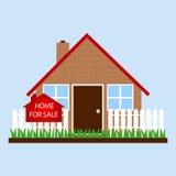 Dom z znaka domem dla sprzedaży Zdjęcie Royalty Free