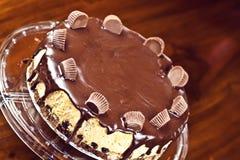Czekoladowy cheesecake Zdjęcia Stock