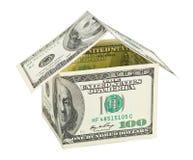 dom zrobił pieniądze fotografia stock