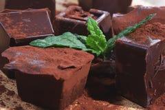 Dom zrobił ciemnej czekoladzie Zdjęcie Royalty Free
