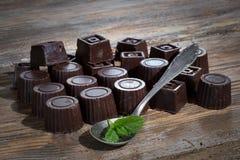 Dom zrobił ciemnej czekoladzie Obraz Royalty Free