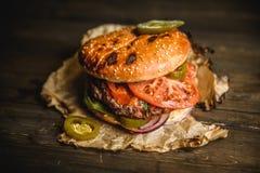 Dom zrobił hamburgerowi Zdjęcie Stock
