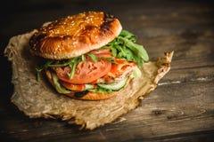 Dom zrobił hamburgerowi Obrazy Stock