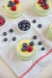 Dom zrobił waniliowemu puddingowi Zdjęcia Royalty Free