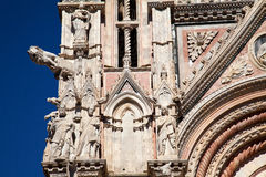 Dom zu Siena. Detailed admission of the cathedral of Siena Stock Photography