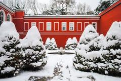 Domabache宫殿开放对访客 免版税图库摄影