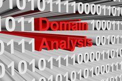Domain analysis. In the form of binary code, 3D illustration Royalty Free Stock Photo