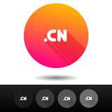 Domain CN sign buttons. 5 Icons Vector top-level internet domain symbols. Royalty Free Stock Photography