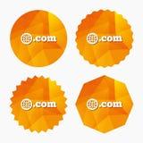 Domain COM sign icon. Top-level internet domain. Stock Image