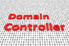 Domain controller. As a binary code 3D illustration Royalty Free Stock Image
