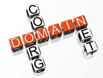 Domain Crossword. 3D Domain Crosswordtext on white background Royalty Free Stock Image