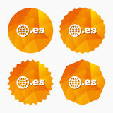 Domain ES sign icon. Top-level internet domain. Royalty Free Stock Image