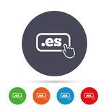 Domain ES sign icon. Top-level internet domain. Royalty Free Stock Images