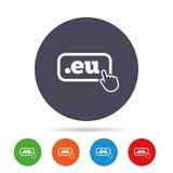 Domain EU sign icon. Top-level internet domain. Stock Image