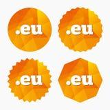 Domain EU sign icon. Top-level internet domain. Royalty Free Stock Photo