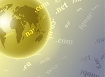 Domain globe Royalty Free Stock Photos