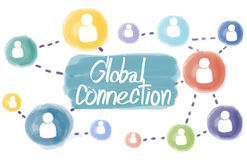 Domain Homepage HTML Links Global Connection Concept Stock Photography