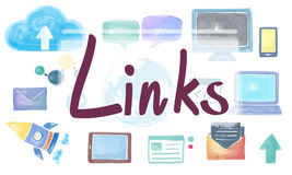 Domain Homepage HTML Links Global Connection Concept vector illustration