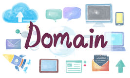 Domain Homepage HTML Links Global Connection Concept.  Royalty Free Stock Image