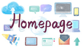 Domain Homepage HTML Links Global Connection Concept Royalty Free Stock Photo