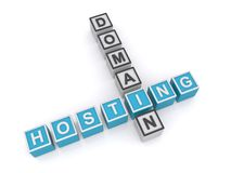 Domain hosting sign Royalty Free Stock Image