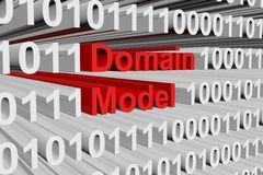 Domain model. In the form of binary code, 3D illustration Stock Photos