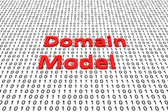 Domain model. In the form of binary code, 3D illustration Stock Image