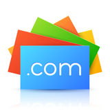 Domain Name on Colorful Paper Card Royalty Free Stock Image