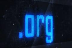 Domain Name de Org Imagen de archivo libre de regalías