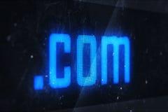 Domain Name di COM Fotografia Stock Libera da Diritti