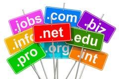 Domain Name e concetto di Internet, rappresentazione 3D Immagine Stock Libera da Diritti