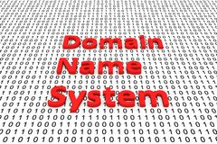 Domain name system. In the form of binary code, 3D illustration Stock Photos