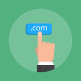 Domain name theme, flat style, colorful, vector icon Royalty Free Stock Photo