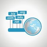 Domain names and internet concept Royalty Free Stock Photo