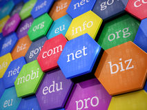 Domain names - internet concept Stock Photo