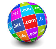 Domain Names Sign Web Globe Royalty Free Stock Photo
