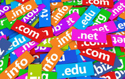 Domain Names Web Concept Royalty Free Stock Images
