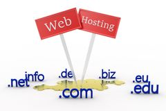 Domain names and web hosting concept Royalty Free Stock Image