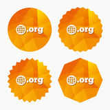 Domain ORG sign icon. Top-level internet domain. Stock Images