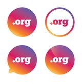 Domain ORG sign icon. Top-level internet domain. Royalty Free Stock Image