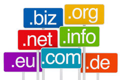 Domain signboard Royalty Free Stock Photos