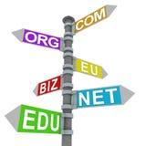 Domain signpost Royalty Free Stock Photo