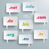 Domain Speech Bubbles Stock Image