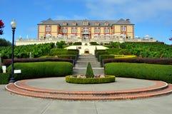 Domaine Carneros vineyard, Napa Valley. Napa Valley (US) - View of the mansion of the Domaine Carneros vineyard stock photo