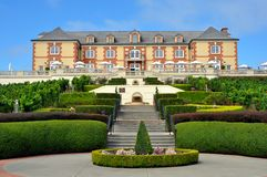 Domaine Carneros vingård, Napa Valley Royaltyfri Fotografi