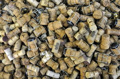 Domaine Carneros wine corks background. Background of close-up wine corks background from Domaine Carneros (Napa Valley, California) by Taittinger Royalty Free Stock Photos